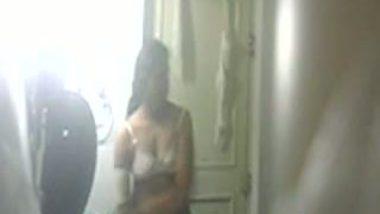 South Indian aunt Seema captured nude using hidden cam in bathroom