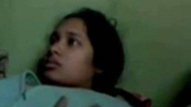 Shy girlfriend exposing body first time