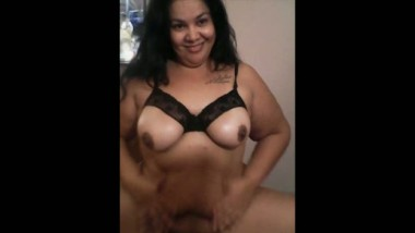 Indian busty figure aunty playing with her boobs on cam