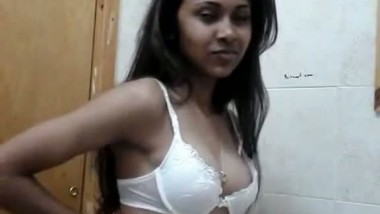 Tanushree from Mumbai India doing a teasing bra strip for you