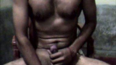 Indian man hot cumshot on webcam