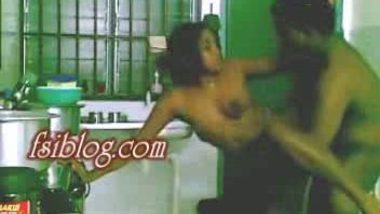 Srilankan Village girl first time fucked by cousin in kitchen
