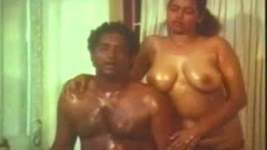 Mallu maid topless oil massage b-grade porn video
