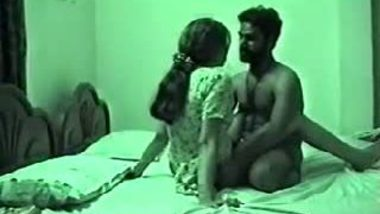 College girl fucked by lover at night during home stay