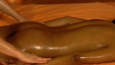 Sexy Black And White Girl Have Fun Massaging Each Other