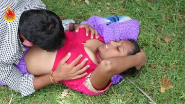 Bollywood aunty boob press & outdoor romance