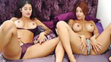 Indian twins strip to show tan lines and pussy