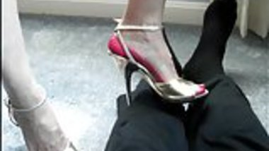 high heel trample