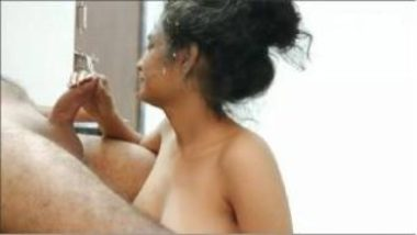 Cumming On Face Of Desi Bhabhi After Blowjob