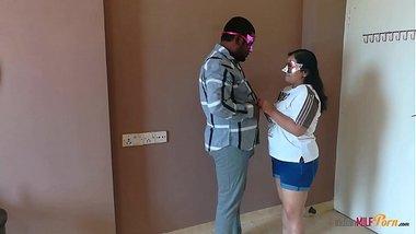 Indian milf aunty shanaya fucked in standing position