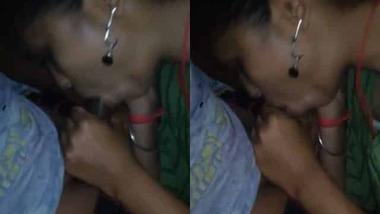 horny sister and bro's Desi blowjob sex MMS