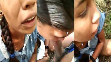 Dehati Randi girl outdoor blowjob sex with customer