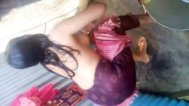 Desi village girl filmed taking shower