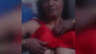 Big Boobs Bhabhi Wearing Red Bra