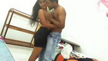 Indian College Girl Romance With Boyfriend And Blowjob