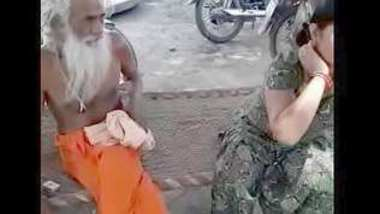 Desi village baba caught when he fuck aunty