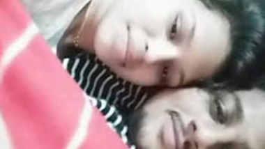 Desi couple smooch and boob suck on video call