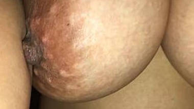 Wife's soft bouncing tits