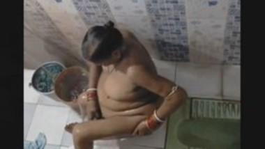 Desi Bhabi Bathing record By hidden cam
