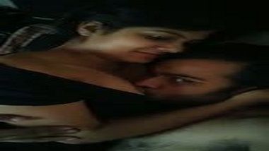 Big boobs Indian college girlfriend gets tits sucked by lover