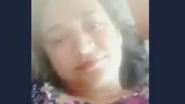 Desi aunty show her big boob selfie video