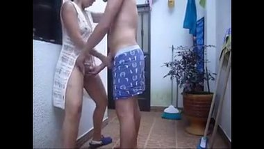 Rich Indian aunty having sex at terrace