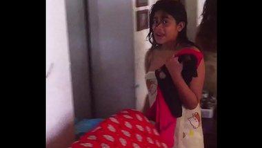 Sexy Telugu girl feeling furious after the bath