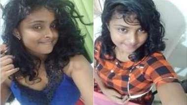 Curly Desi hottie teasing with her big boobs in XXX webcam show