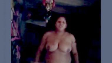 Desi Big Boobs Aunty Nude Selfie 1