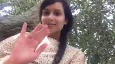 So Beautiful Innocent Looking Sri Lankan GF Secretly Showing Her Amazingly Cute Pussy and Butt to Her BF in Outdoor