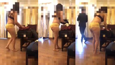 indian wife daring and teasing to room service boy