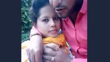 Cute Indian Girl Boob Sucking in park