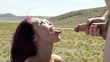 Monique Alexander fucked and made to swallow in outdoor