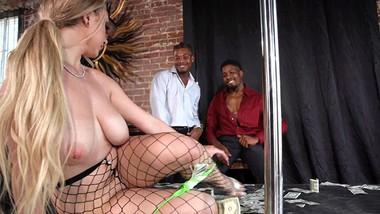 Busty Skylar Vox Reaches Multiple Orgasm During Interracial Gangbang